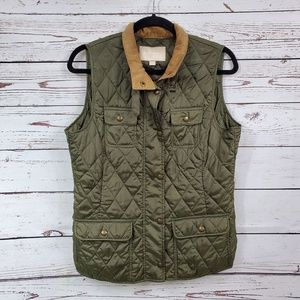 Banana Republic Quilted Field Vest Green Adventure